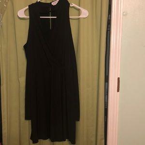 BCBG Black Long Sleeve Cut Out Shoulder Dress